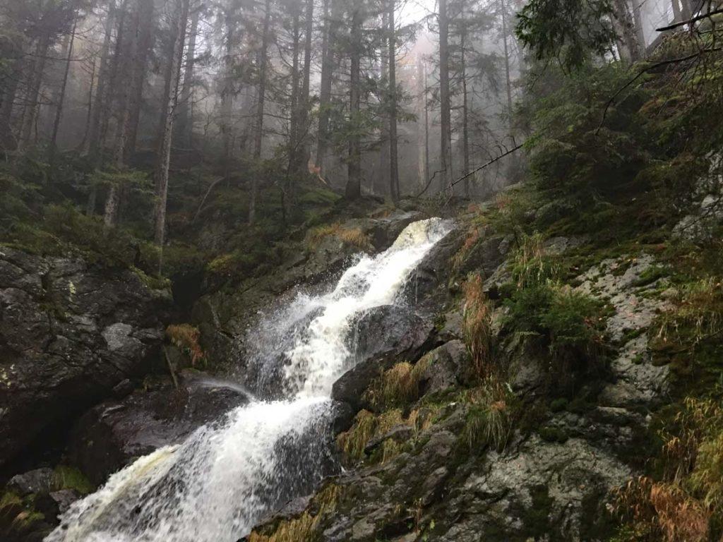 Rissloch Wasserfall bayerischer Wald