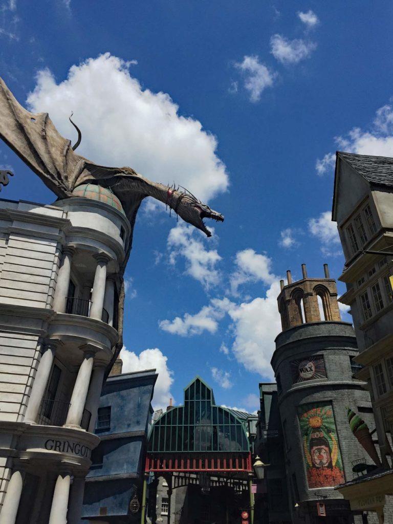 Universal-Studios-Drache-Gringotts