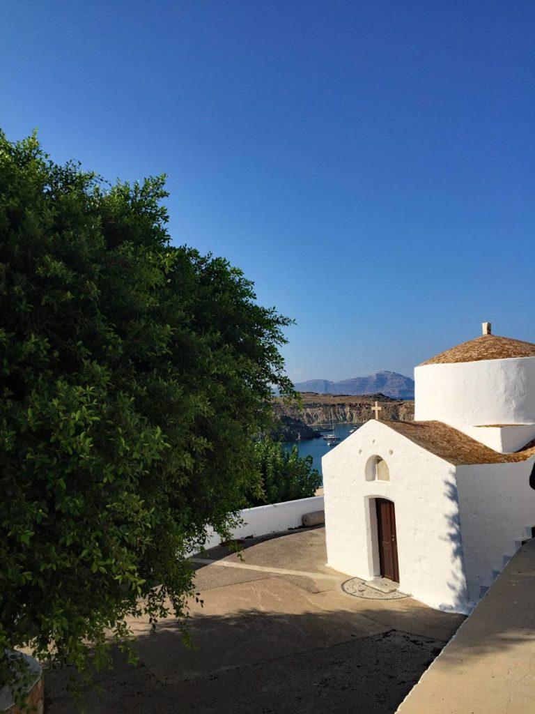 Kirche-Lindos-Rhodos