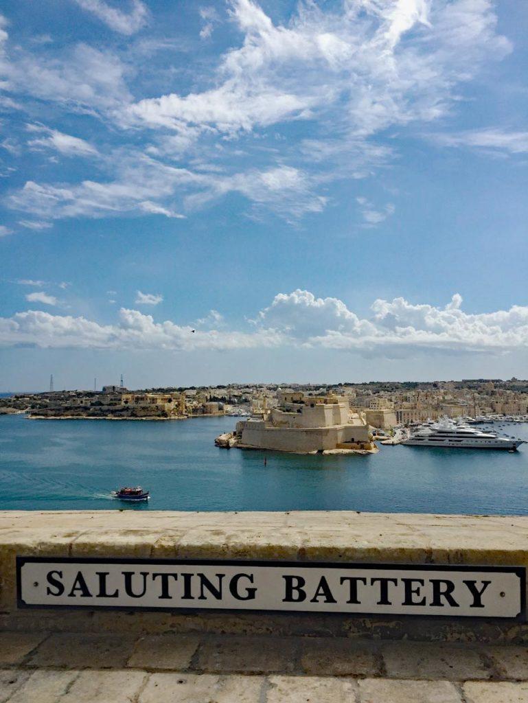 malta saluting battery valletta