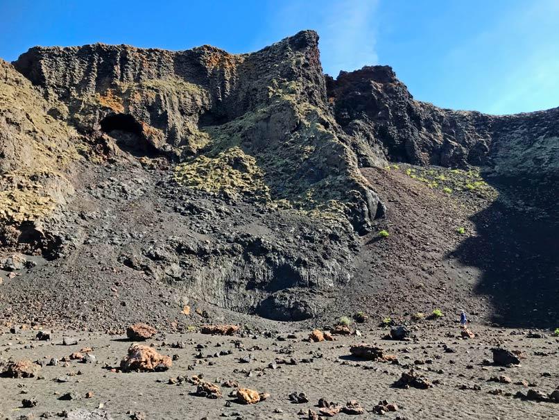 lanzarote wanderung vulkan montana del cuervo mit kindern