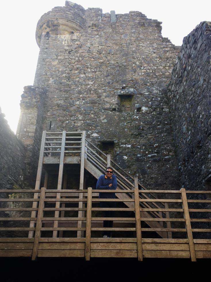 Kilchurn castle Schottland Strandfamilie