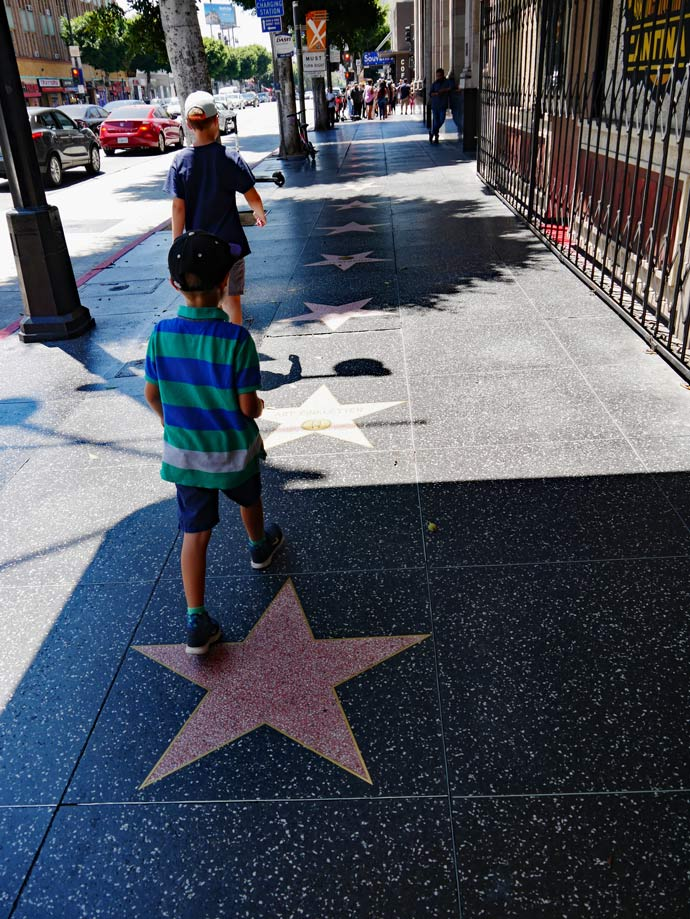 walk of fame los angeles mit kindern