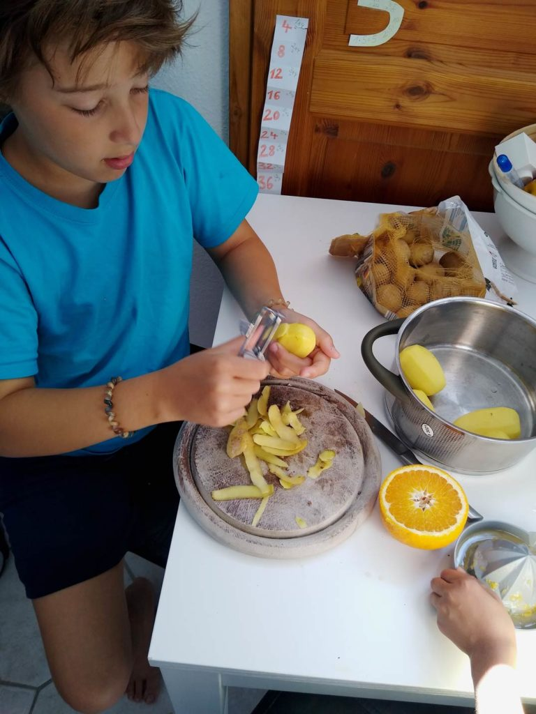 freilernen kinder kochen