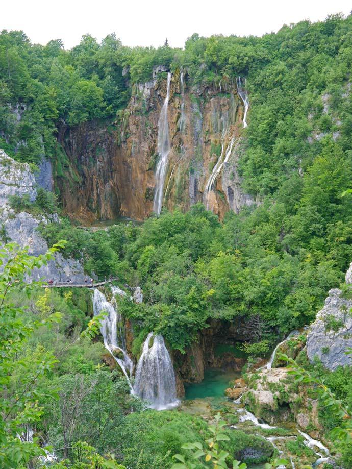 großer wasserfall plitvicer seen kroatien mit kindern