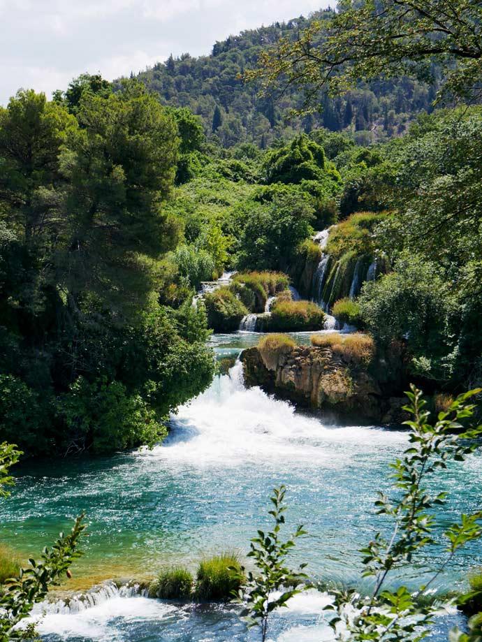 nationalpark krka kroatien wasserfall mit kindern