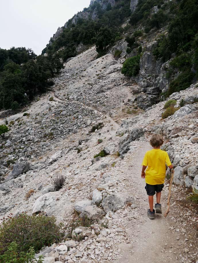gola gorropu canyon wandern sardinien mit kindern