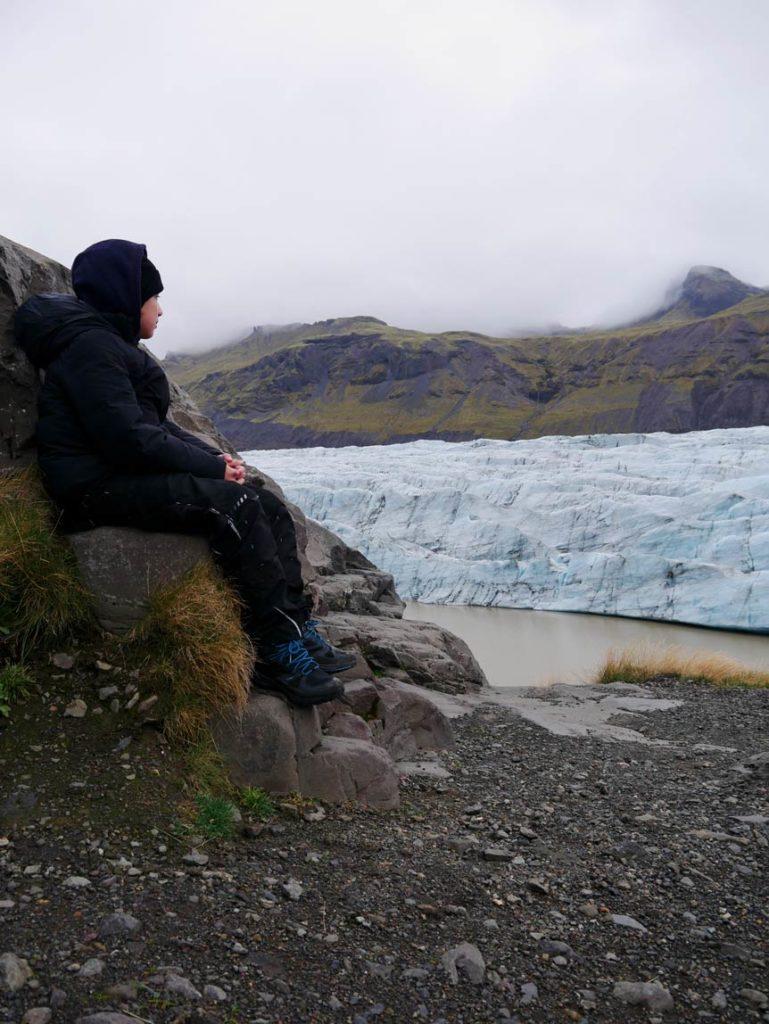 svinafellsjokull gletscher ost island mit kindern