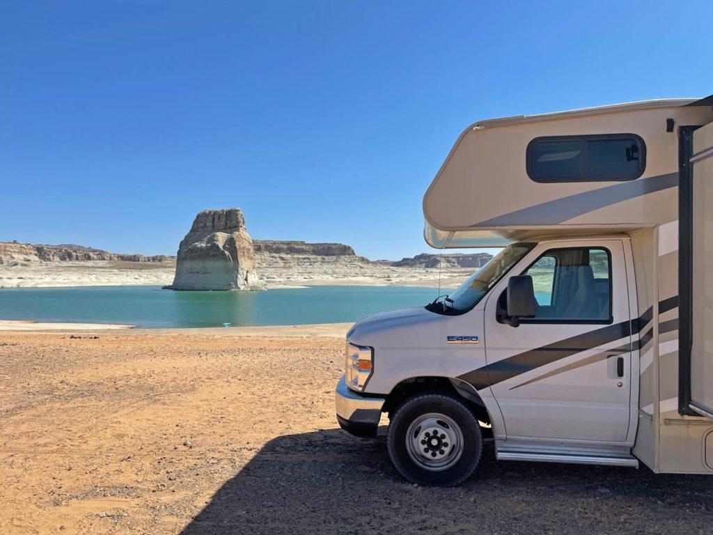 lone-rock-beach-campground-lake-powell-mit-kindern-utah